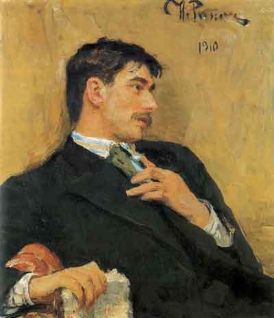 Портрет Корнея Чуковскогокисти И. Е. Репина, 1910 год