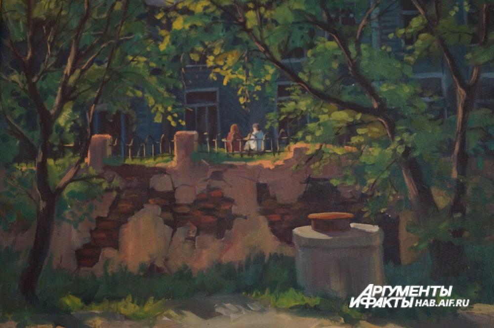 Дом по улице Тургенева, оставшийся только на картине.