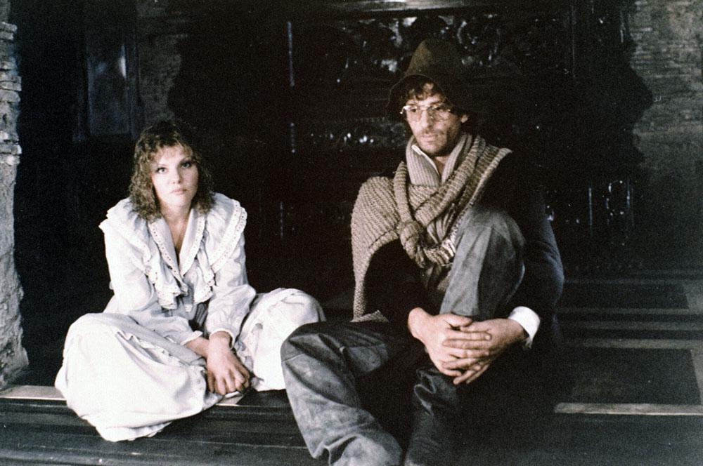 Александр Абдулов вроли Ланселота и Александра Захарова вроли Эльзы насъемках фильма «Убить дракона» (режиссер Марк Захаров).