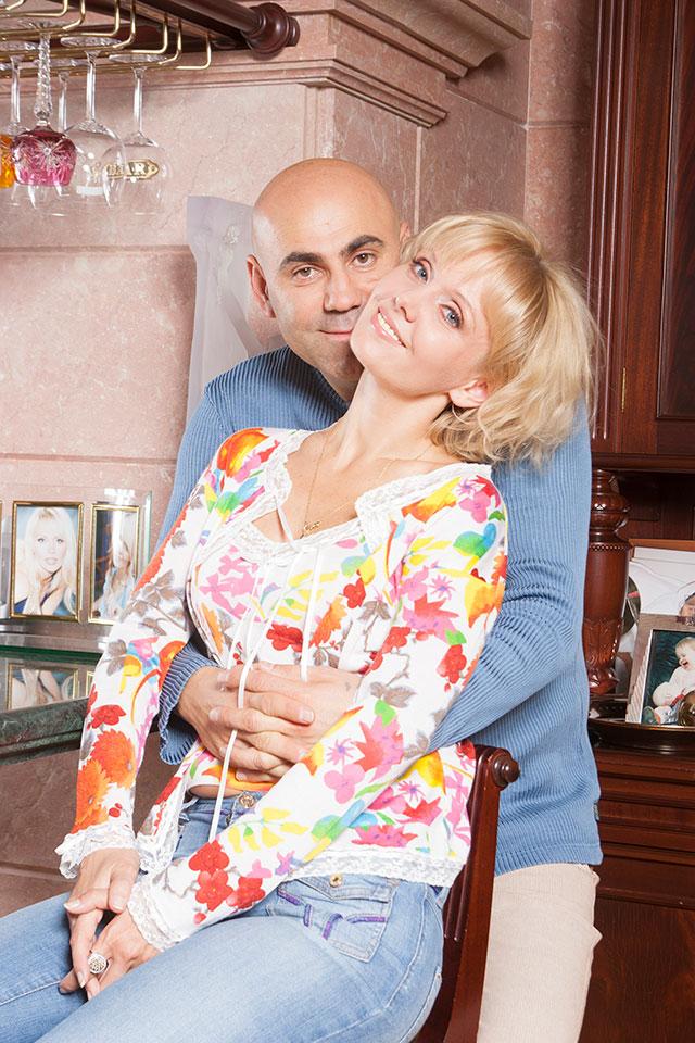 Валерия с мужем Иосифом Пригожиным.