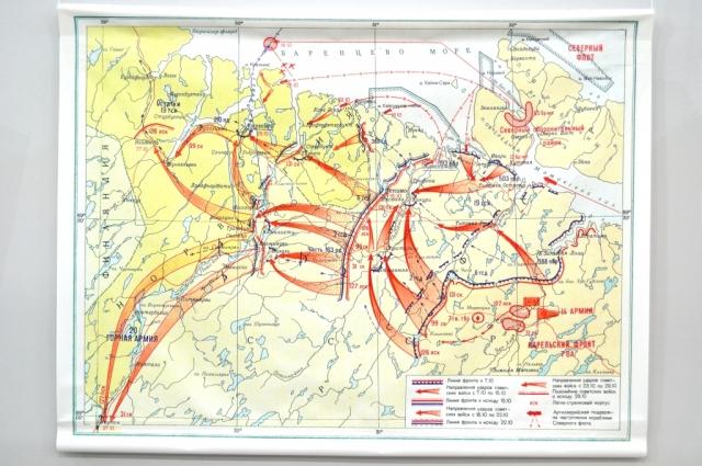 Если мы внимательно посмотрим на карты Петсамо-Киркенесской операции, то увидим попытки, которые предпринимали советские войска для окружения группировки на Кольском полуострове и в Финнмарке. Но окружение не получилось.