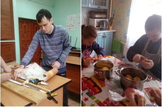 В мастерской ребята учатся творить, в учебно-тренировочной квартире отрабатывают бытовые навыки.