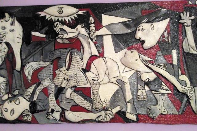По мотивам картины Пабло Пикассо «Герника».