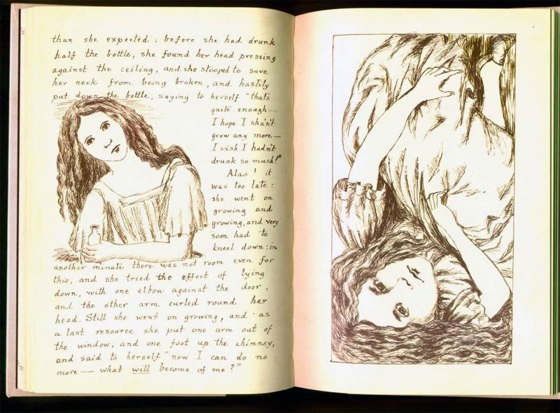 Страницы из первой рукописи Льюиса Кэрролла Приключения Алисы под землёй