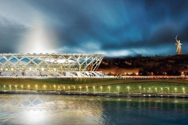 Макет нового стадиона, который планируют построить в Волгограде к Чемпионату мира по футболу в 2018 году