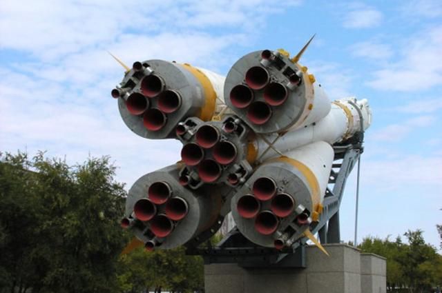 Монумент Ракета-носитель Союз в Байконуре