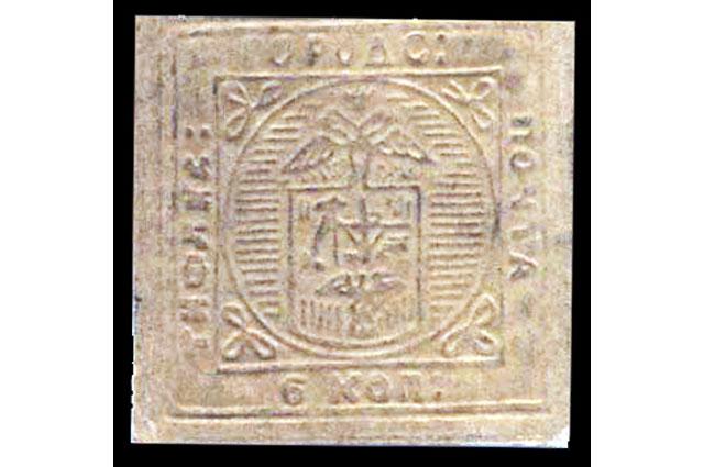 Один из известных вариантов изображения Тифлисской марки, который появился в каталоге Михель в 1934 году