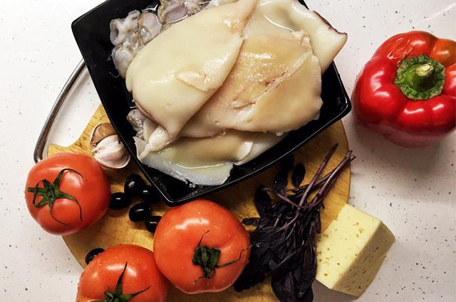 Рецепт салата с коктейлем из морепродуктов