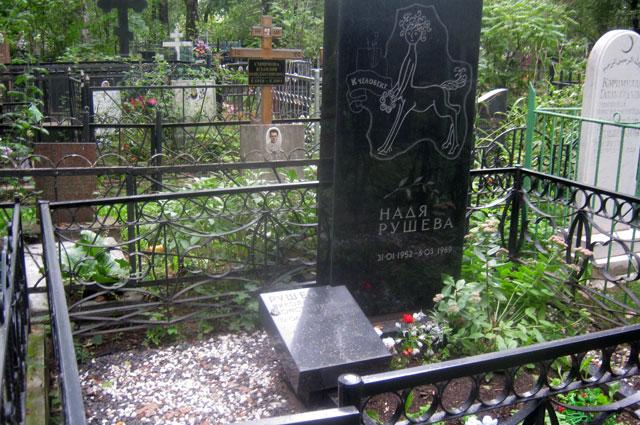Могила Нади Рушевой и её отца Николая Константиновича на Покровском кладбище
