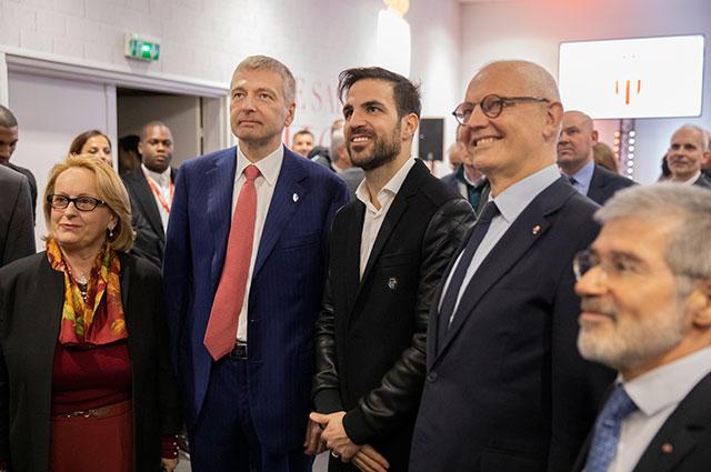 Слева направо - вице-президент Национального совета Монако Бриджитт Бокконе-Паже, Дмитрий Рыболовлев, Сеск Фабрегас, премьер-министр княжества Серж Телль, министр внутренних дел княжества Патрис Селларио.