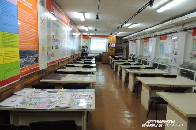Первый кабинет в убежище завода пока используется как класс для занятий, оснащённый мультимедиатехникой