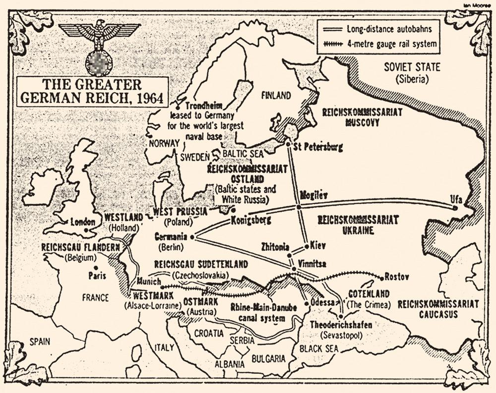 Так выглядела бы карта послевоенной Европы, если бы СССР и его союзники не разгромили фашистскую Германию.