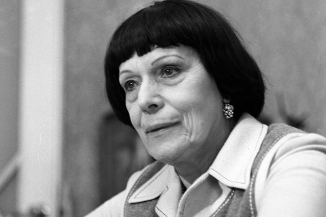 Народная артистка СССР, Герой Социалистического Труда, лауреат Государственной премии СССР Ирина Бугримова. 1980 год.