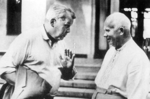 Александр Твардовский и Никита Хрущев.