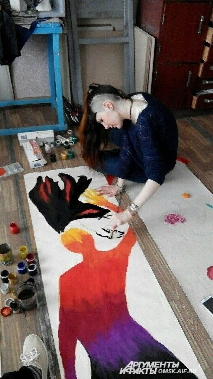 Сейчас Лере 14 лет. Девочка по-прежнему занимается рисованием.