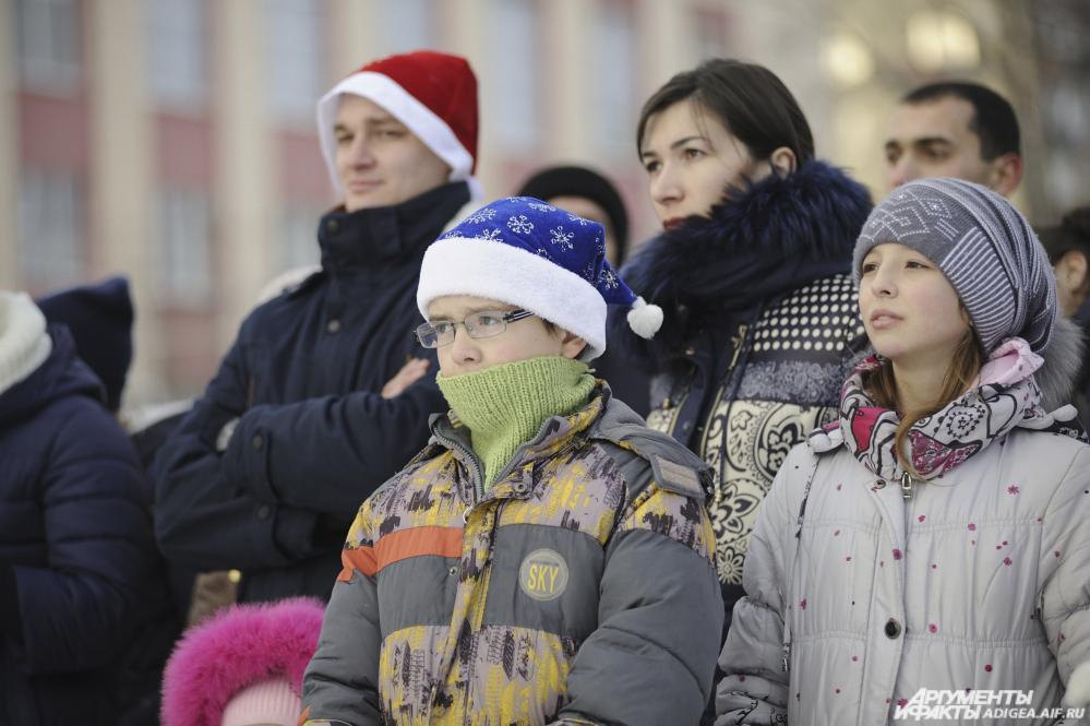 открытие новогодней ёлки в Майкопе, новый год в Майкопе