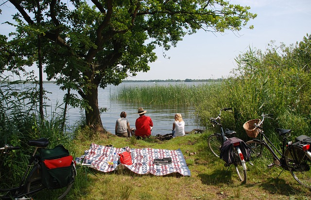 На велосипеде можно съездить на пикник.