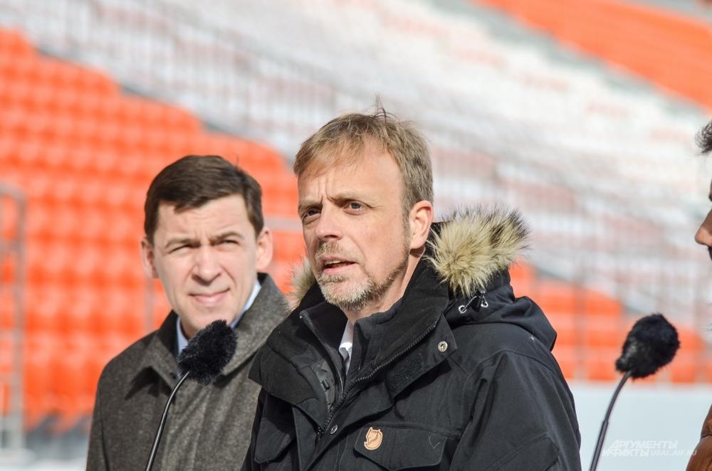 Директор департамента FIFA по проведению соревнований и мероприятий Колин Смит высоко оценил «Екатеринбург Арену».