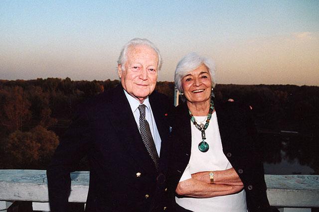 Морис Дрюон с супругой Мадлен в Оренбурге, 2003 год.