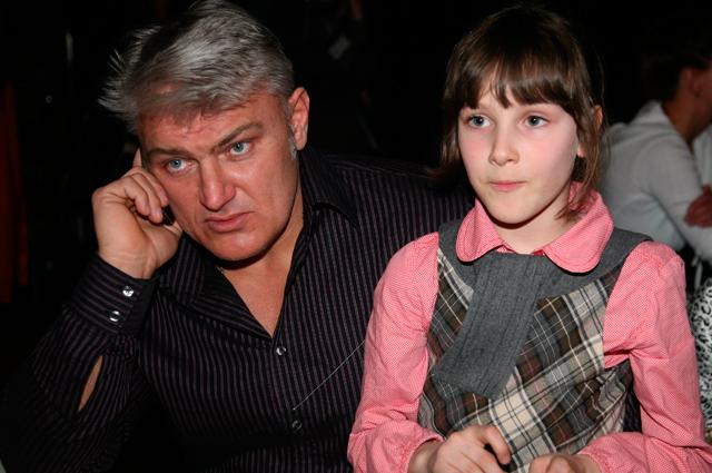 Владимир Турчинский с дочерью Ксенией. 2009 г.