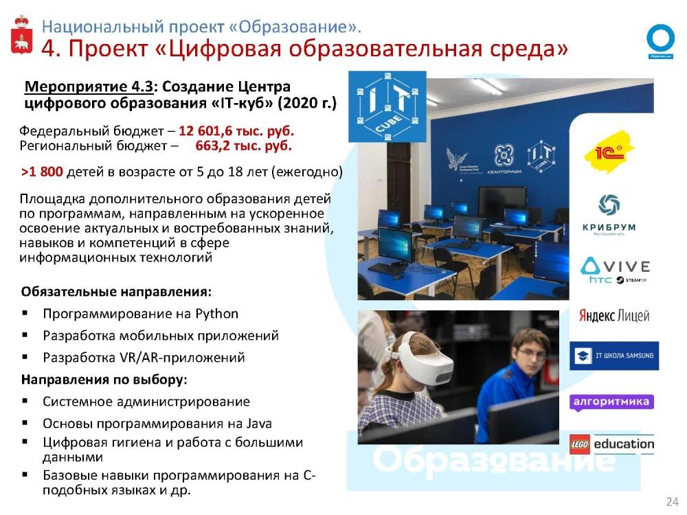 Проект IT-куб откроет окно в мир высоких технологий для ребят в возрасте от 5 до 18 лет.