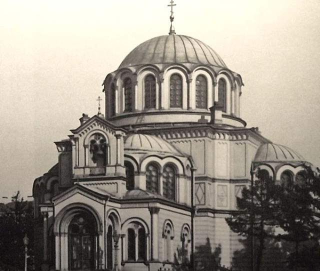 Вид на храм со стороны Лиговского проспекта. 1900-е годы.