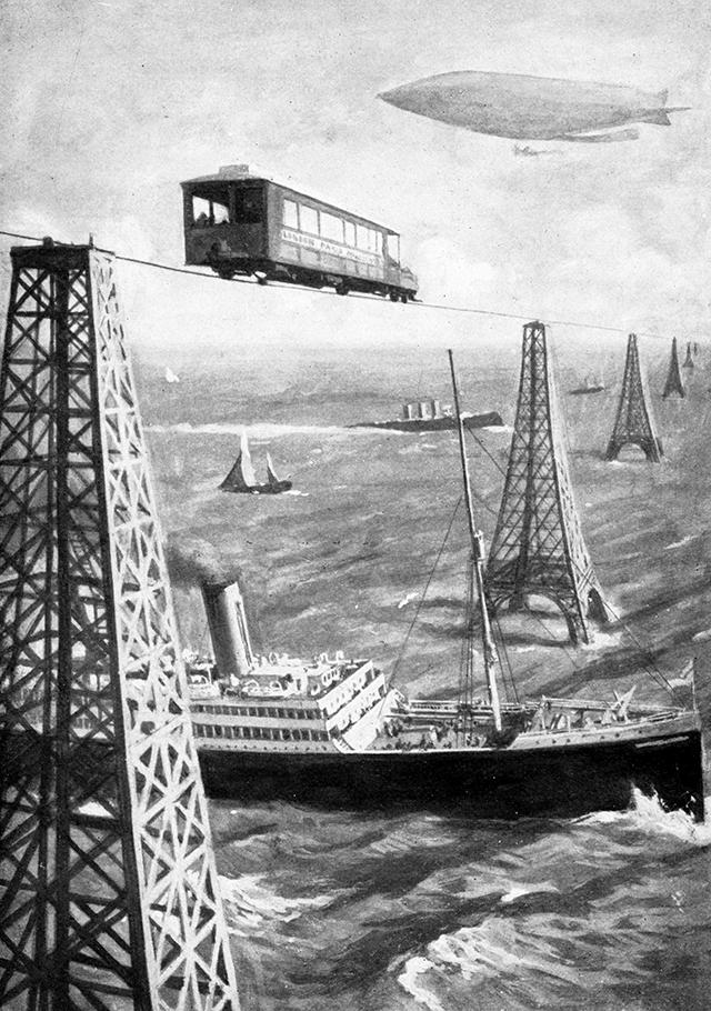 Иллюстрация из книги Герберта Уэллса «Война в воздухе».