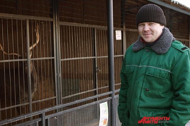 Заведующий отделом млекопитающих Сергей Белов