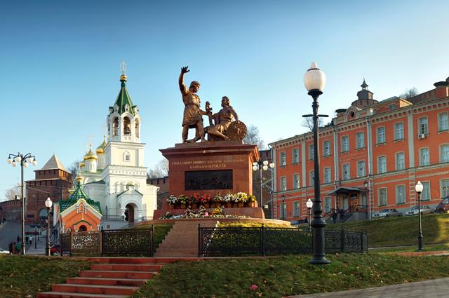 Памятник в Нижнем Новгороде.