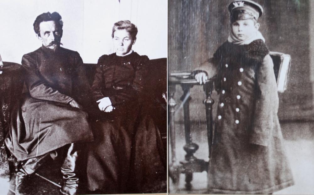 Родители Александра Арбузова и он сам в детстве.