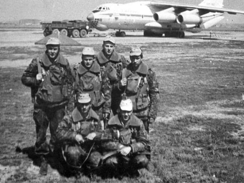 Евгений Савченко с товарищами в Нагорном Карабахе, 1990г.