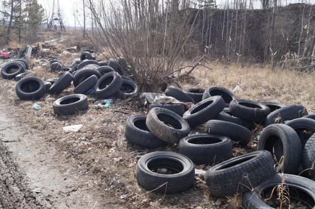 Автомобильные шины просто выбрасывают.