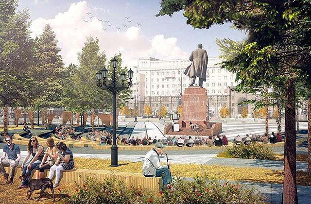 Проект реконструкции площади Революции.
