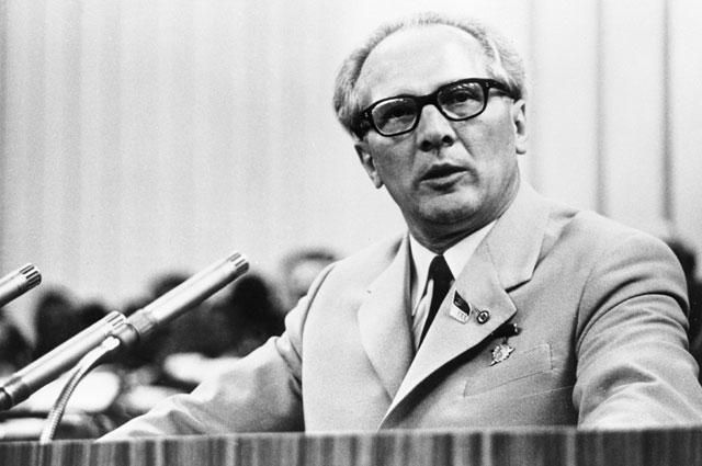 Первый секретарь ЦК Социалистической единой партии Германии Эрих Хонеккер.