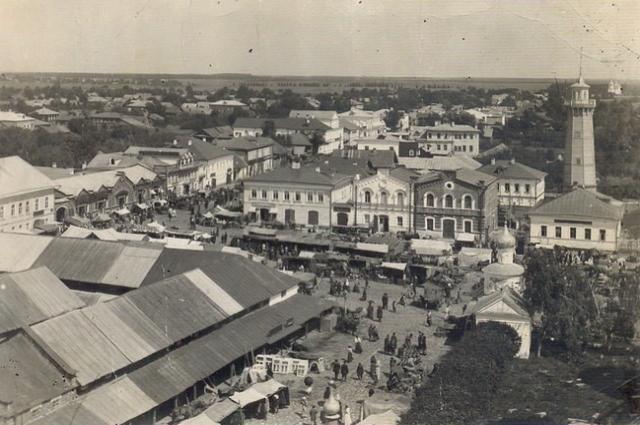 Кимры, 1900–1903 годы. Вид с колокольни Троицкой церкви.