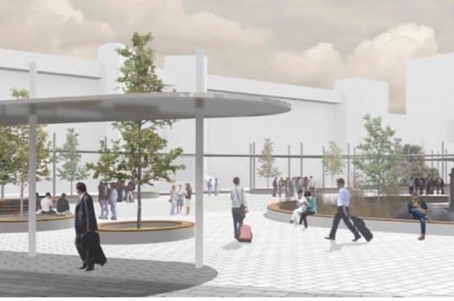 Проект Привокзальной площади в Белгороде.