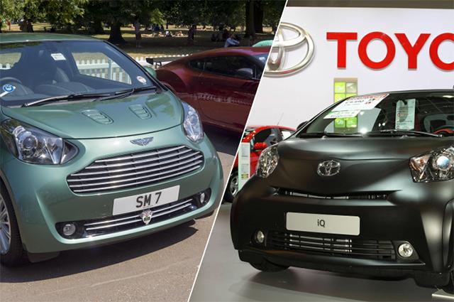Aston Martin Cygnet и Toyota IQ