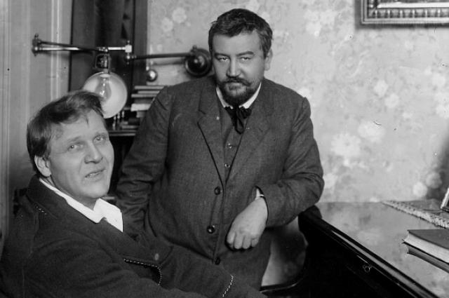 А. И. Куприн и Ф. И. Шаляпин. Петербург. 1911 г.
