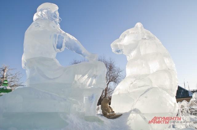 В городке омичей будут ждать ледянные скульптуры.