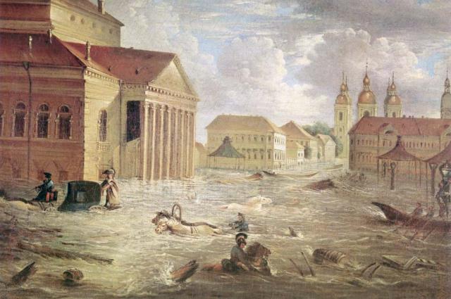В 1924 году вода поднялась на 4,21 метра выше ординара.