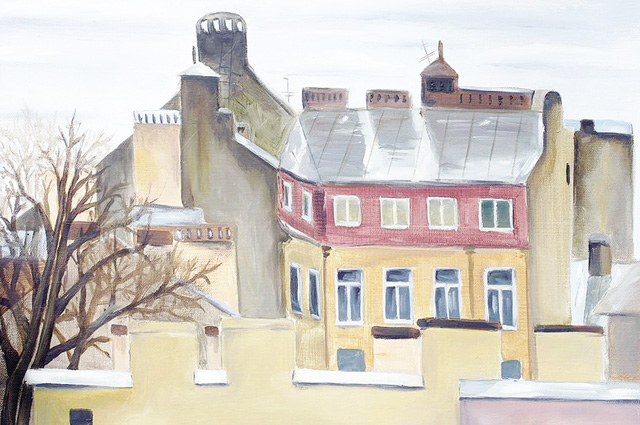 «Крыши Петербурга. Дождь». Одна из работ Ульяны.