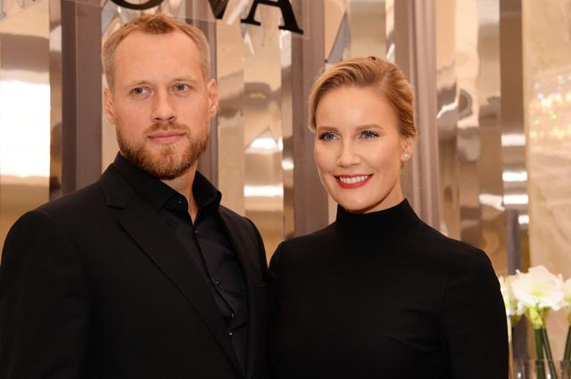 Елена Летучая с супругом.