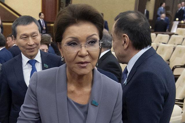 Дарига Назарбаева на совместном заседании палат Парламента Казахстана.