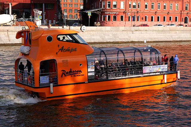 Теплоход «Астра» флотилии Radisson Royal наМоскве-реке.