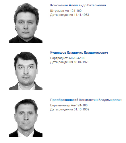 """Сотрудники компании """"Волга-Днепр"""", погибшие при теракте в Мали."""