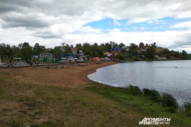 В Мотовилихе на пляже часто проходят спортивные соревнования.