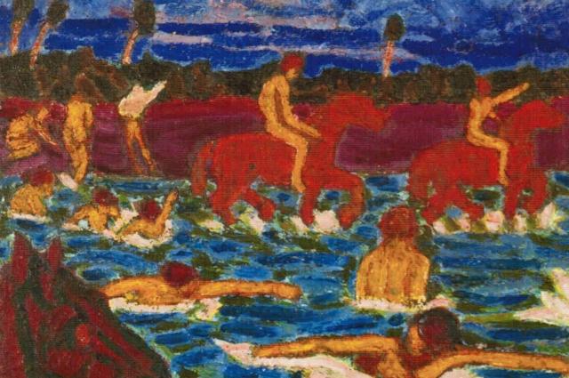 Картина «Купание красных коней»