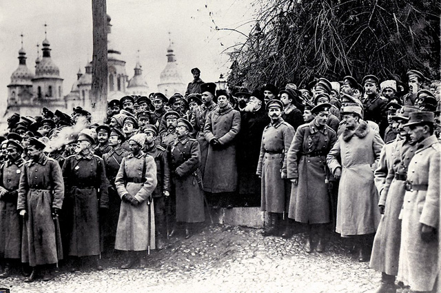 Митинг во время проведения III Военного съезда. Киев. 2 ноября 1917