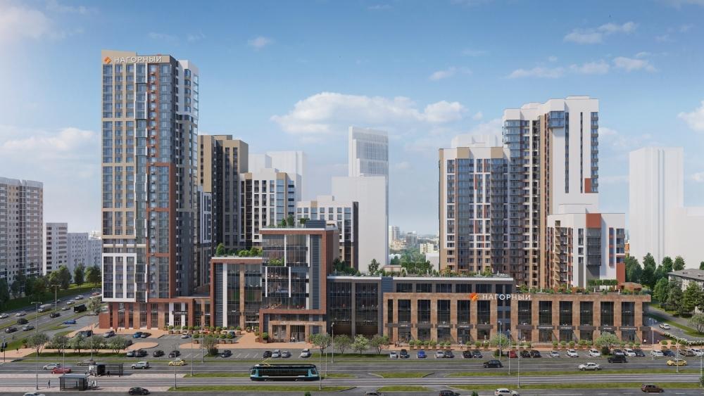 ЖК «Нагорный» — это дома бизнес-класса из кирпича с роскошным панорамным видом на центр города.