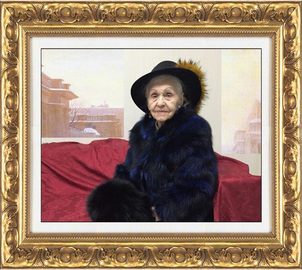 94-летняя красавица из Ростова в образе Незнакомки